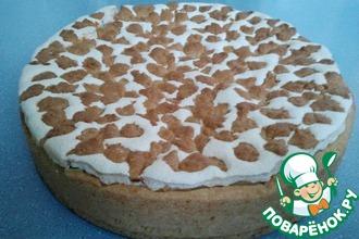 Рецепт: Пирог из песочного теста с повидлом и прослойкой безе
