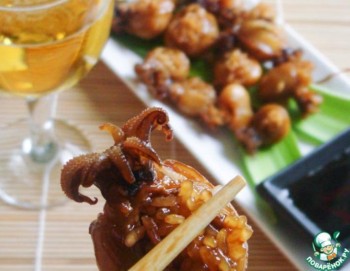 Рецепт: Фаршированные кальмары по-японски