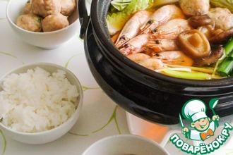 Рецепт: Японский суп борцов сумо