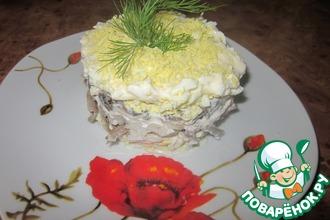 Рецепт: Салат  Печеночный