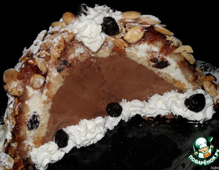 Рецепт: Зукотто Вишня в шоколаде