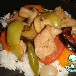 Мясо с овощами по-китайски