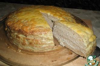 Рецепт: Блинный пирог с селедочным паштетом