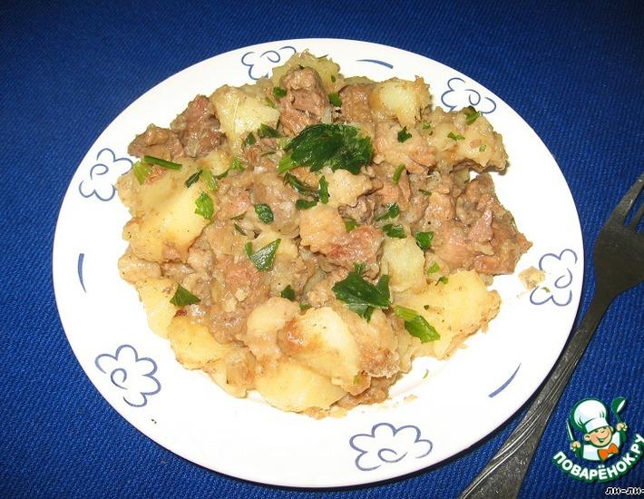 Рецепт: Жаркое из говядины Бабушкино