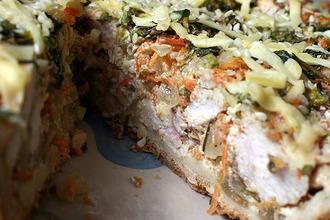 Рецепт: Пирог Заливной с курицей и луком
