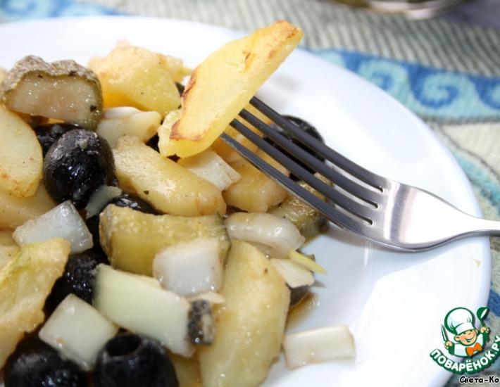 Рецепт: Ароматный картофельный салат