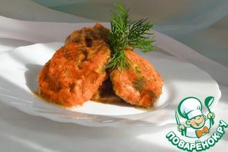 Рецепт: Баклажаны в маринаде из свежих помидоров