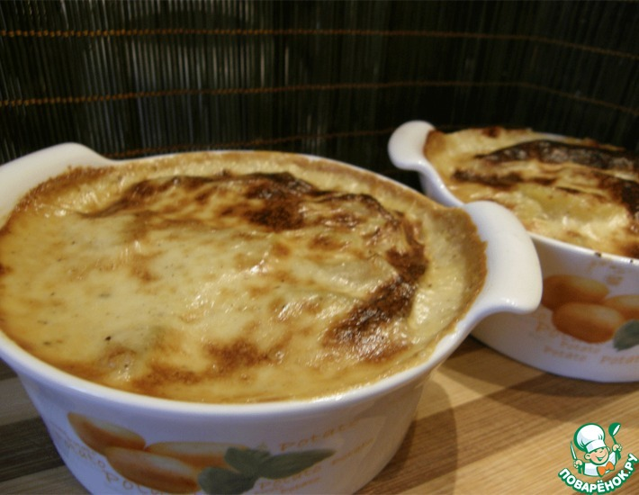 Рецепт: Картошка, запеченная в сливочно-сырном соусе