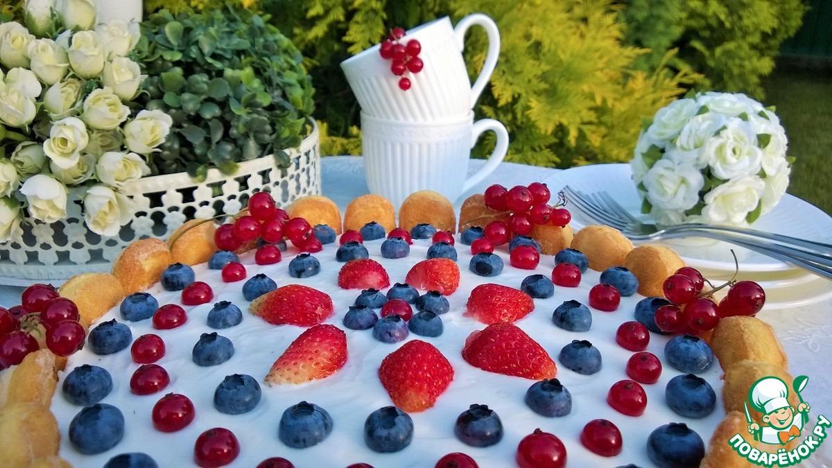Чизкейк Аля Тирамису с ягодой