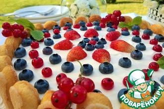 Рецепт: Чизкейк Аля Тирамису с ягодой