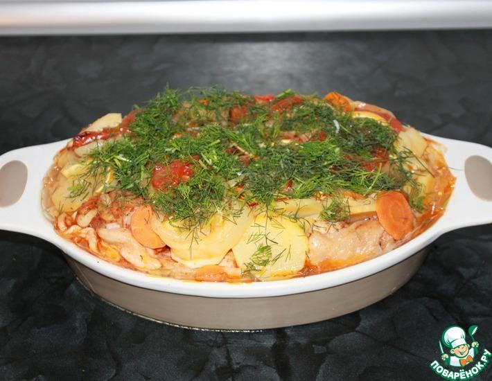 Рецепт: Куриные бедрышки Нотки Абхазии