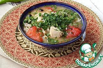 Рецепт: Куриный суп Товук шурпа