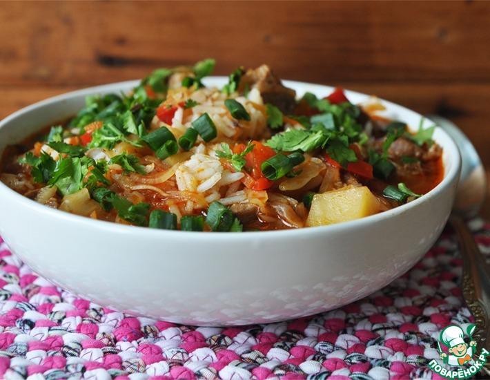 Рецепт: Лагман из риса