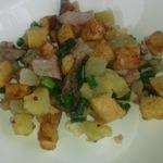 Салат с солёной или копчёной рыбой