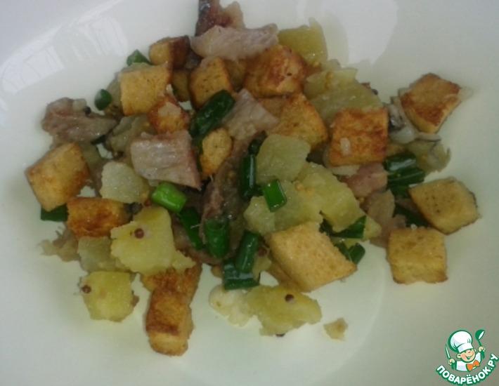 Рецепт: Салат с солёной или копчёной рыбой