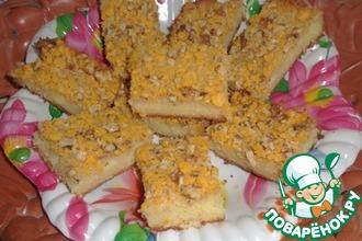 Рецепт: Пирог с масляной заливкой и сладкой хрустящей корочкой