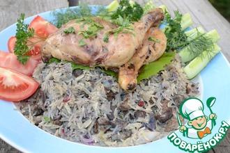 Рецепт: Плов с печенью и цыпленком с Ближнего Востока