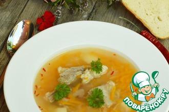 Рецепт: Суп из баранины с рисом и алычой