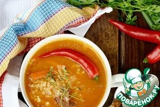 Рецепт: Густой бараний суп