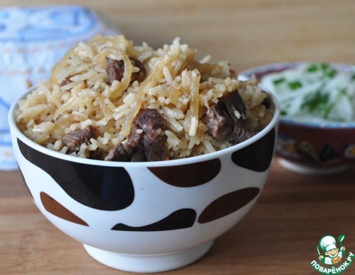 Рецепт: Палау-лобо и салат из редьки