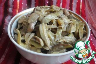 Рецепт: Закуска из баклажанов Грибная