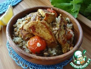 Рецепт Плов из коричневого риса с жареной курицей