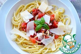Рецепт: Соус из свежих помидоров для макарон