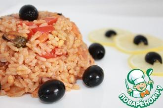 Рецепт: Паэлья с морепродуктами