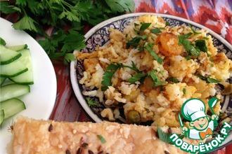 Рецепт: Хайдарабадское бирьяни с креветками