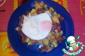 Рецепт: Жаркое По-охотничьи с яйцом