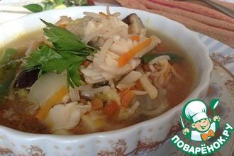 Рецепт: Рыбный суп из трески с рисом