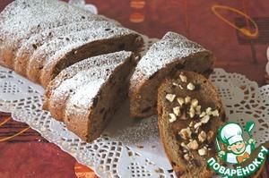 Рецепт Медово-банановый кекс с грецкими орехами и финиками