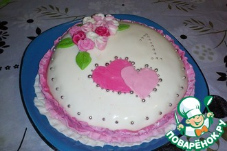 Рецепт: Бисквитный тортик Мое первое чудо