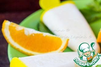Рецепт: Рисовое мороженое с апельсиновым соком