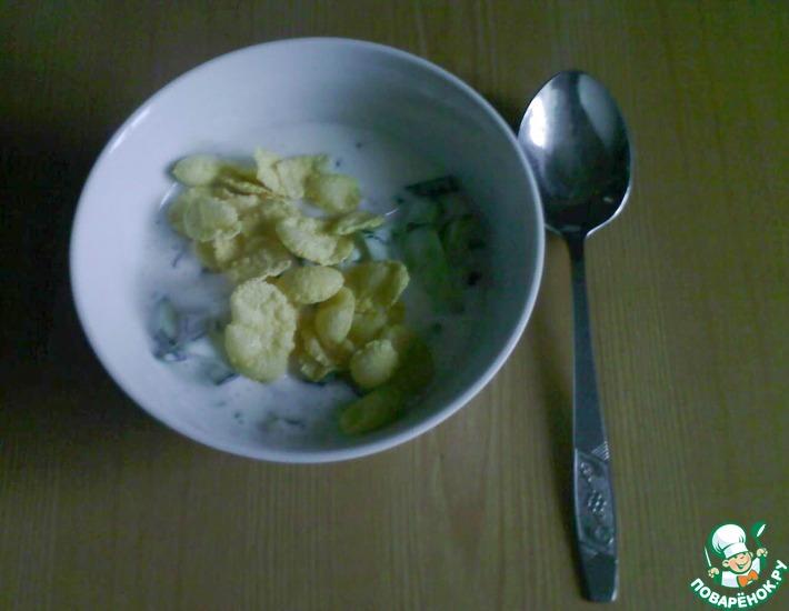 Рецепт: Летний холодный суп из кефира