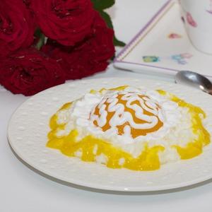 Рецепт А ля рисовые равиоли с апельсиновым соусом