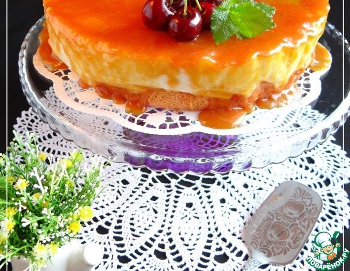 Трехслойный рисовый торт