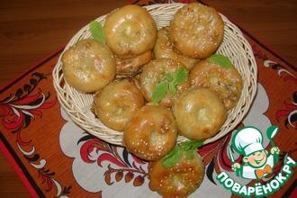 Рецепт: Слоистые мини-пирожки с капустой