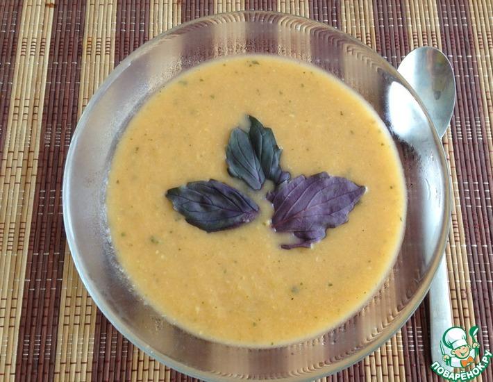 Рецепт: Суп-пюре с базиликом и помидорами
