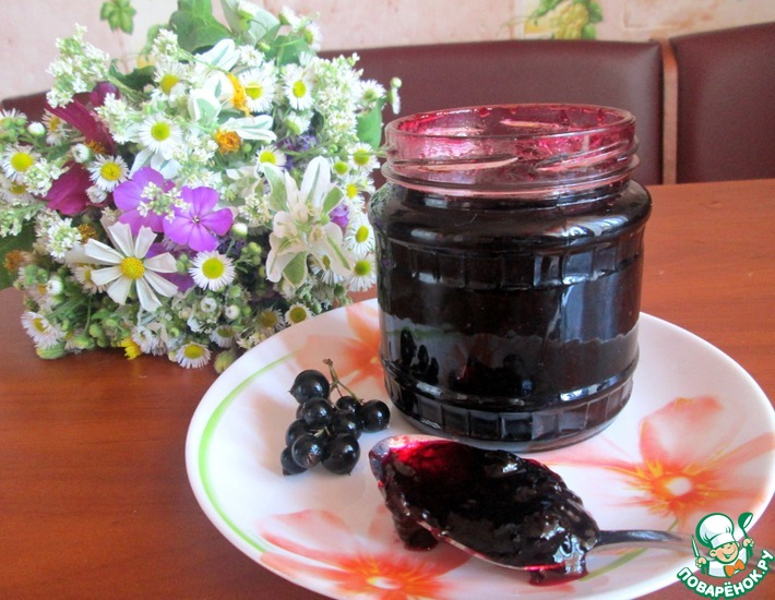 Рецепт: Варенье из черной смородины Пятиминутка