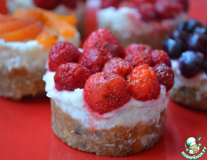 Рецепт: Тарталетки с рисом и ягодами