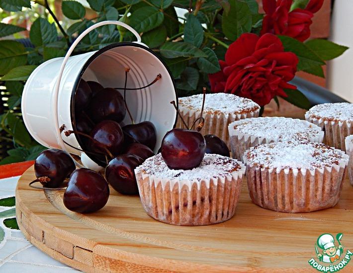 Рецепт: Рисовые кексы с лимоном и черешней