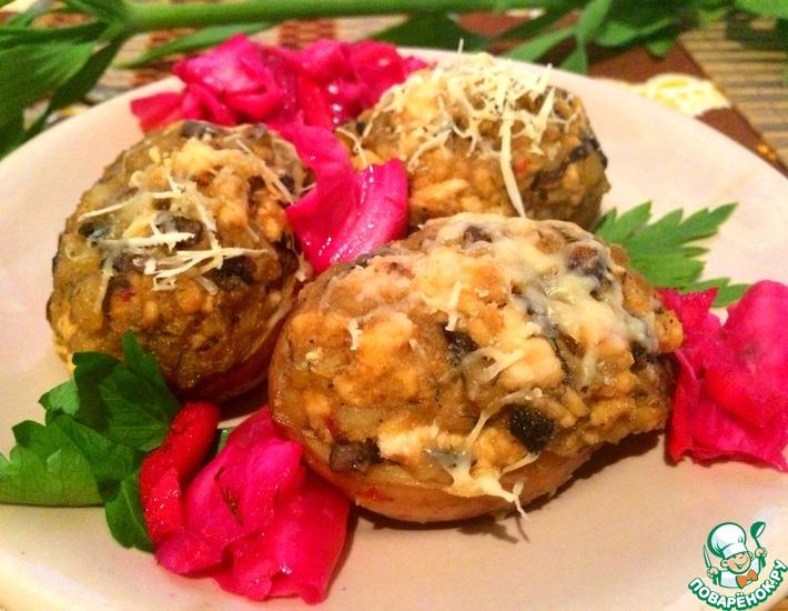 Рецепт: Фаршированные картофельные Лодочки