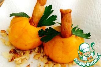 Рецепт: Сырная закуска с оливками Тыквочки