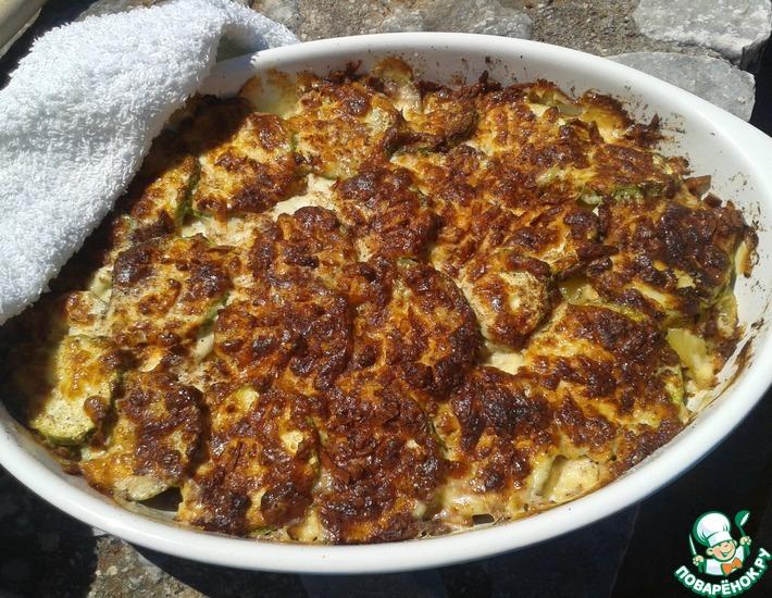 Рецепт: Кабачки Огратен