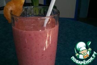 Рецепт: Персиково-малиновый смузи