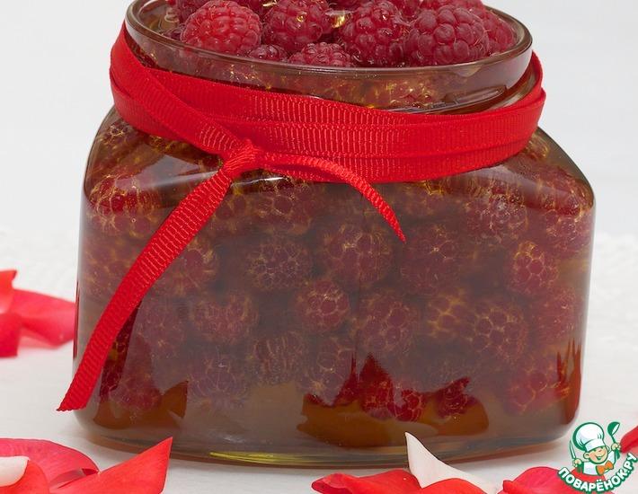 Рецепт: Малина на меду холодным способом
