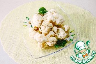Рецепт: Маринованная цветная капуста в микроволновке