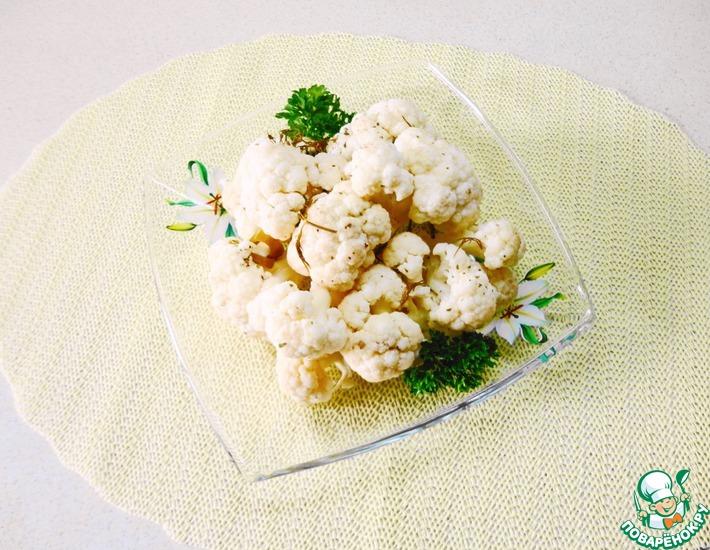 Рецепт: Быстромаринованная цветная капуста в микроволновке