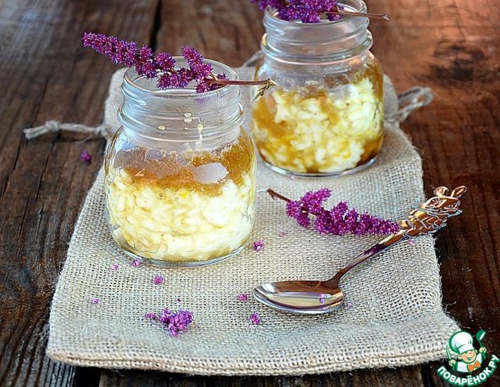 Рецепт: Рисовый пудинг с соленой карамелью
